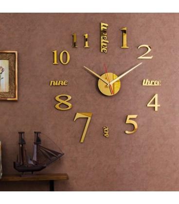 ساعت دیواری نامبر(طلایی)