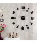 ساعت دیواری طرح ریتم (مشکی,طلایی,نقره ای)