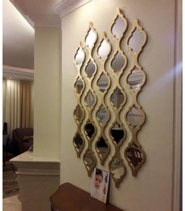 قاب آینه دكوراتيو طرح گیتی (کوچک 4 آینه ای) |