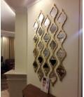 قاب آینه دكوراتيو طرح گیتی (4 آینه ای,سه شاخه)