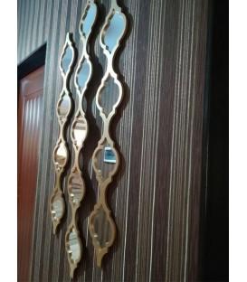 قاب آینه دكوراتيو طرح گیتی (کوچک 4 آینه ای)