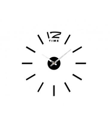 ساعت دیواری طرح تایم (مشکی)