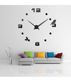 ساعت دیواری طرح پرنده (مشکی,طلایی,نقره ای)