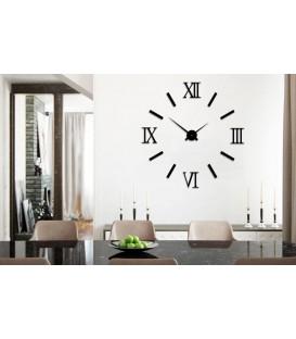 ساعت دیواری طرح مدرن رومی(مشکی)