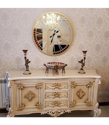ساعت دیواری کلاسیک مدل گراند (طلایی)