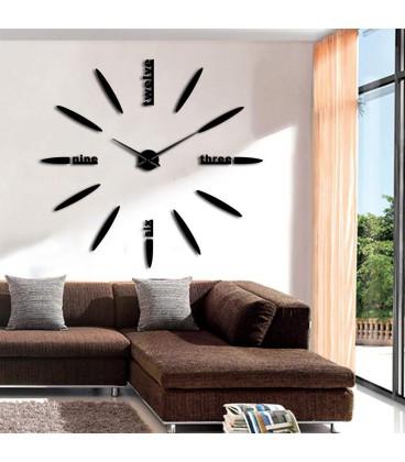 ساعت دیواری طرح استیو (مشکی)