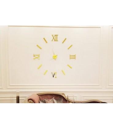 ساعت دیواری طرح مدرن رومی (طلایی)