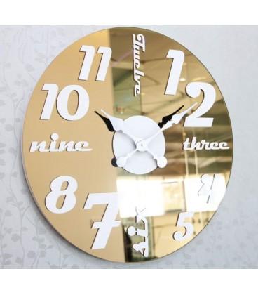 ساعت دیواری لوکس گلکسی (برنزی)