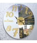 ساعت دیواری لوکس گلکسی (نقره ای)