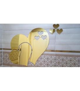 آینه فانتزی طرح قلب