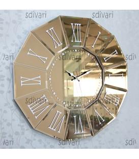 ساعت دیواری ونیزی طرح عقیق (برنزی)