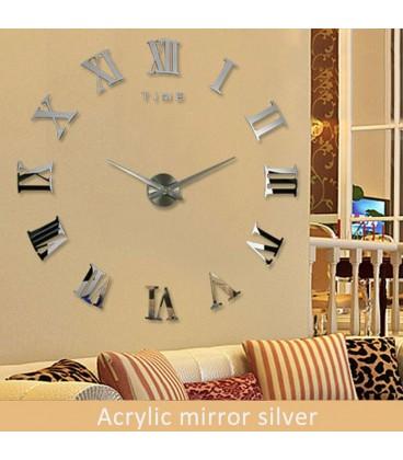 ساعت دیواری لئوناردو (نقره ای)