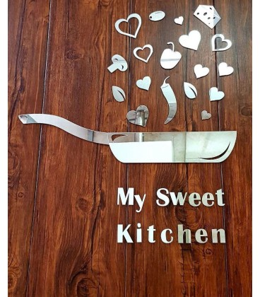 آینه آشپزخانه طرح Kitchen (نقره ای)