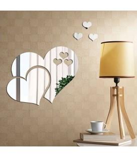 آینه فانتزی طرح قلب (نقره ای)
