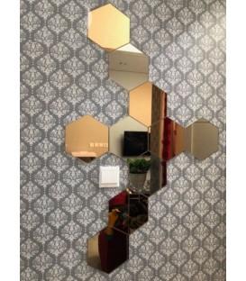 آینه دیواری شش ضلعی