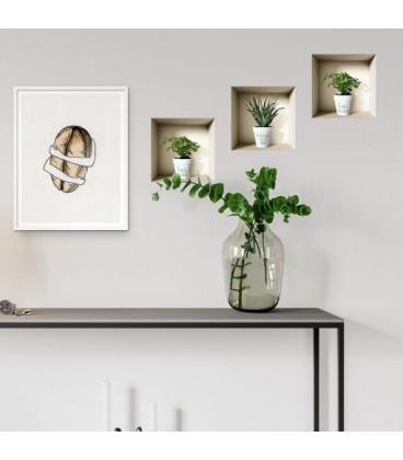 استیکر سه بعدی طاقچه مجازی طرح گلدان
