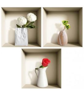 استیکر سه بعدی طاقچه مجازی طرح گل