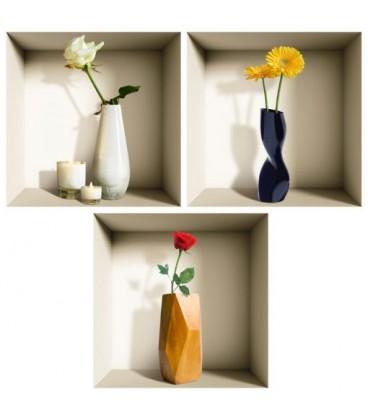 استیکر سه بعدی طاقچه مجازی طرح شاخه گل