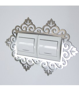 آینه دور کلید و پریز طرح فلور (دوبل)