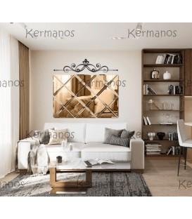 مجموعه آینه دکوراتیو تراشدار طرح ژینوس