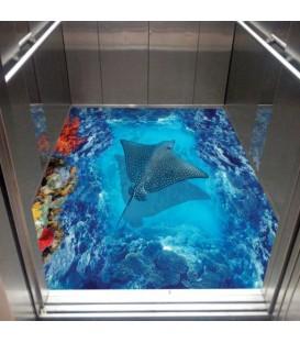 کفپوش سه بعدی آسانسور طرح صدف