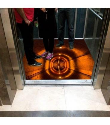 کفپوش سه بعدی آسانسور طرح سیاه چال