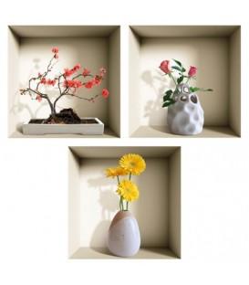 استیکر سه بعدی طاقچه مجازی طرح گلدان 2