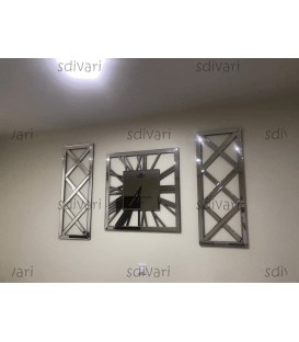 ست ساعت دیواری و گوشواره آینه ای طرح سهیلا