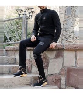 ست بافت Yarin(مشکی) و کفش ساقدار Odek(مشکی)