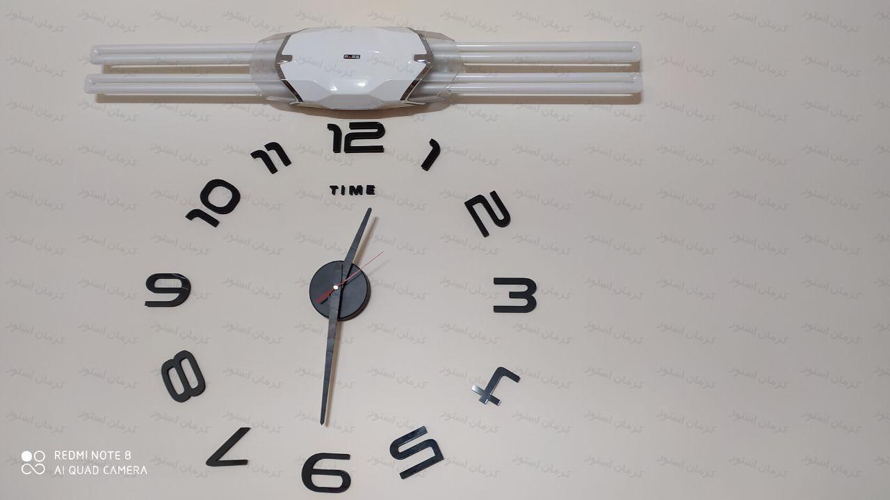 نمونه نصب شده ساعت دیواری طرح پرفکت
