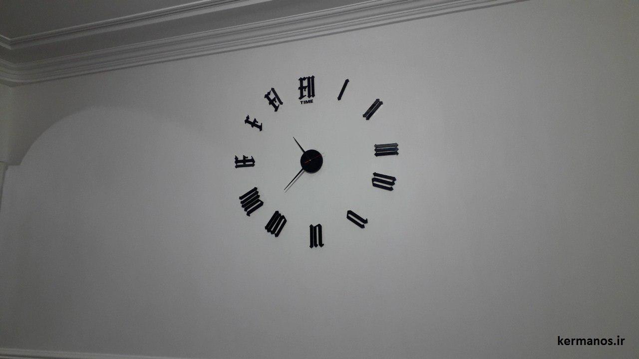 نمونه نصب شده ساعت دیواری طرح لندن مشکی