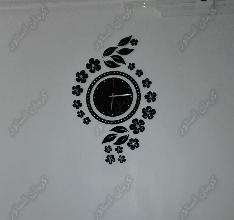 تصویر نصب شده ساعت دیواری فانتزی,طرح نیلوفر
